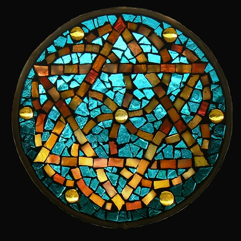 Stained Glass Mosaic Mandala Blessing by David Chidgey