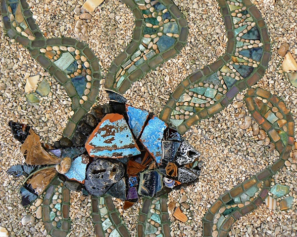 Mosaic Art by David Chidgey Underwater Dance