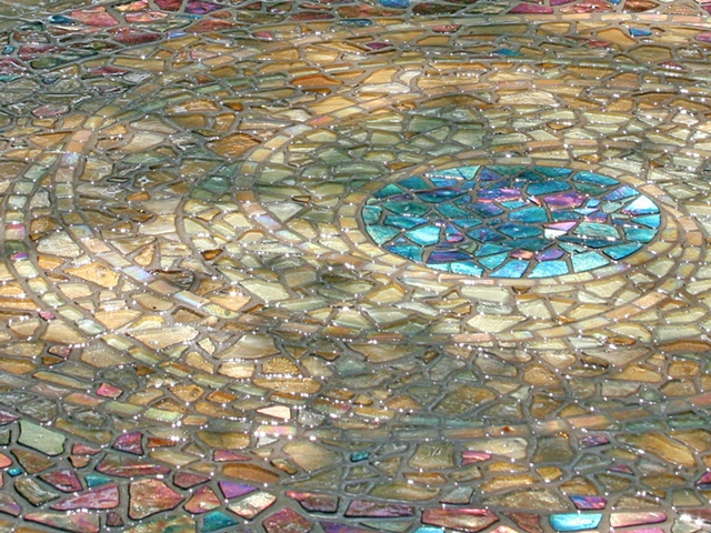 Garden Mosaic Planet Detail by David Chidgey