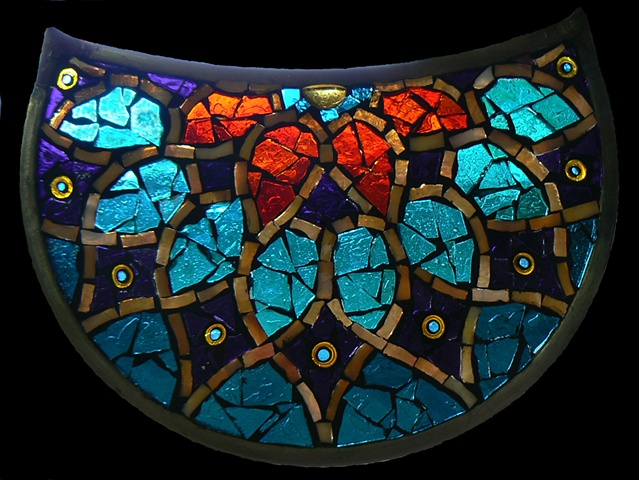 Stained Glass Mosaic Persian Crescent by David Chidgey