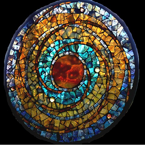 Stained and Art Glass Mosaic Mandalas by David Chidgey