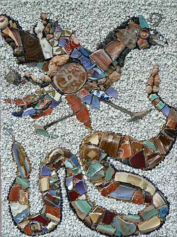 Mosaic Art Prey or Predator by David Chidgey at Ilana Shafir Spontaneous Workshop