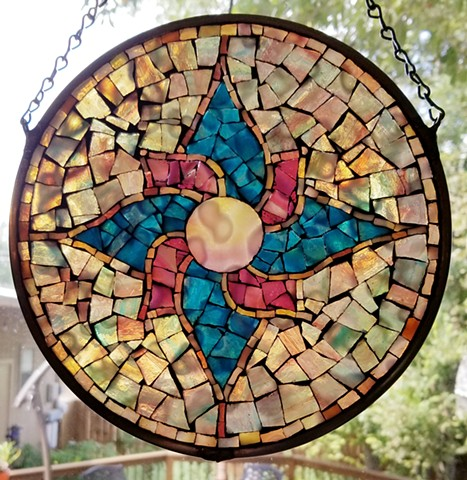 David Chidgey's stained glass mosaic mandala workshop