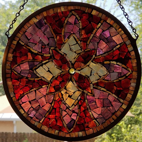 Art Glass Mosaics Mandala Workshop by David Chidgey San Antonio