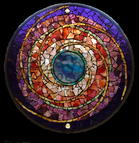 Mosaic Mandala Stained Glass Kaleidoscope by David Chidgey