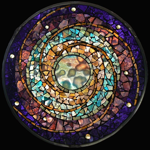 Stained Glass Mosaic Mandala Music of the Spheres by David Chidgey