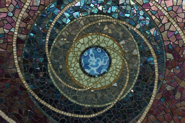Music of the Spheres, David Chidgey, Mosaics, Universe, Planets, Spirals, Celestial, Clockwork