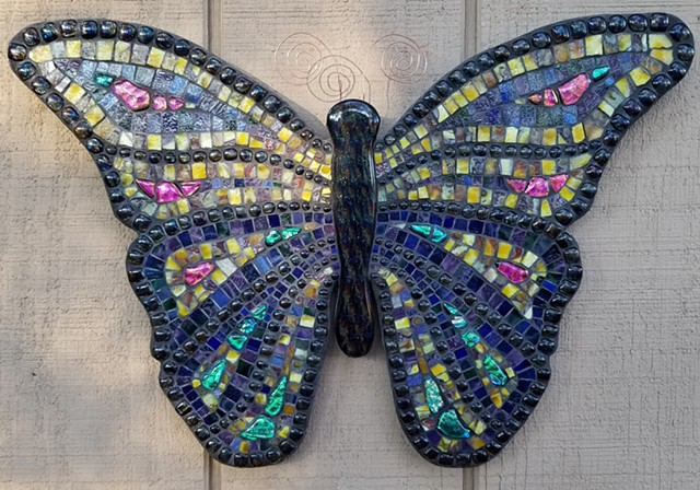 Mosaic Butterfly by David Chidgey