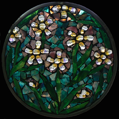 Spring Flowers Mosaic Mandala by David Chidgey