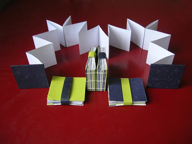 Blank Books made with Fruit Wrapping Paper