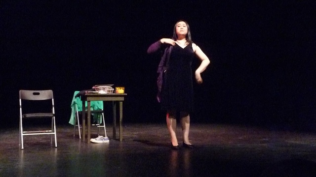 Performing at the Riant Theatre, New York City, 2011  Photo by Diep Tran-Vinh