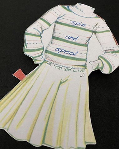 Textile History Paper Doll Barbie