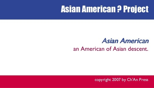 Asian American is American