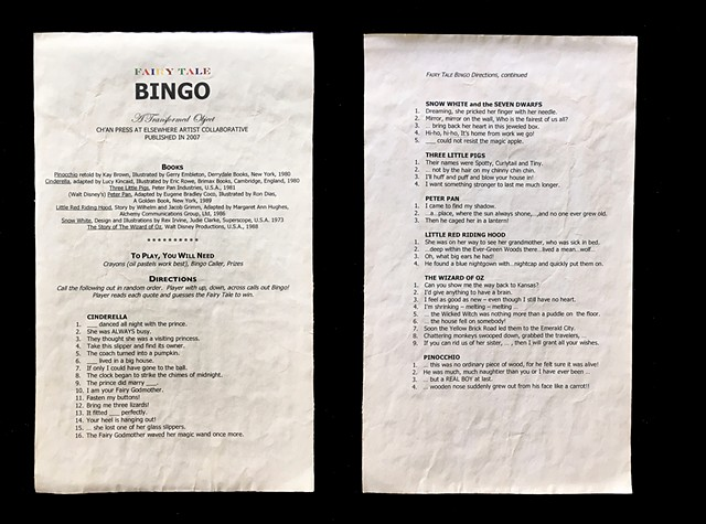 The Game Instructions/Colophon