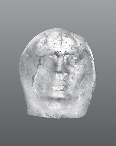 glass portrait sculpture