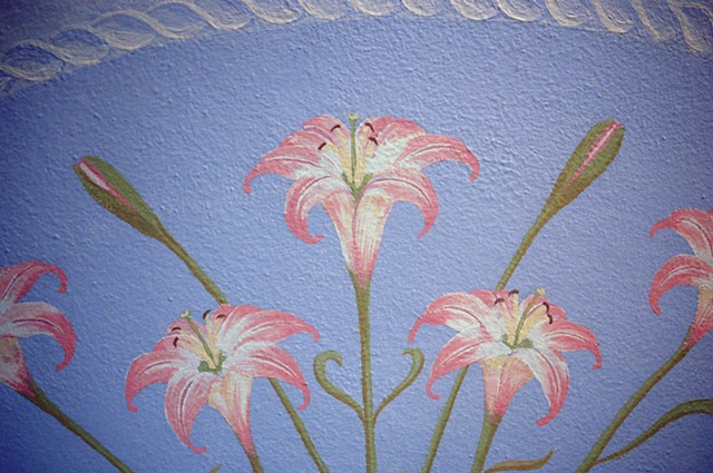 Floral Ceiling Painting (Motivo Floreale), Lilies