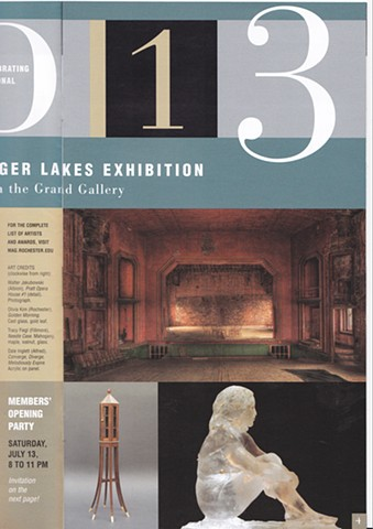 "Memorial Art Gallery Articulate monthly magazine, where my sculpture ""Golden Morning"" is featured"