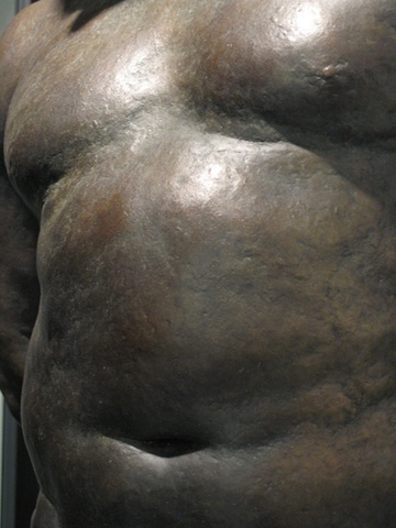 male nude bronze sculpture