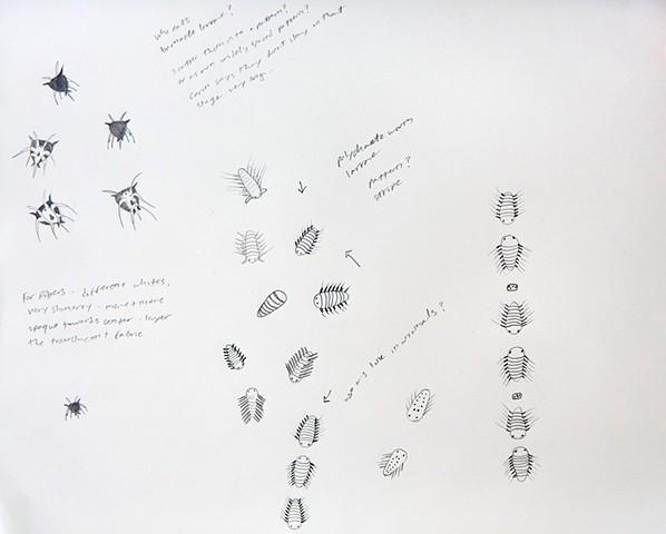 plankton patterns, sea life pattern design by chelsea clarke