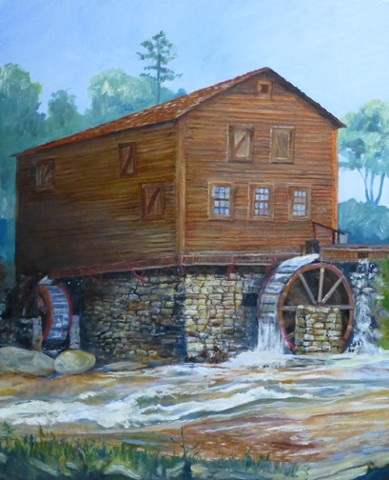 This painting was donated to the Tyger River Foundation, as a fundraiser for the renovation of the mill.