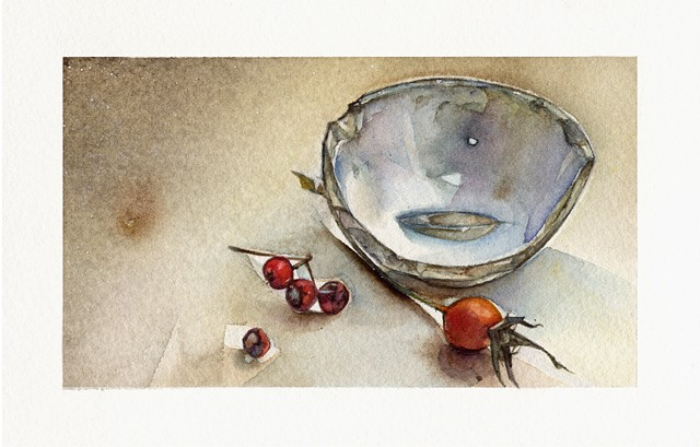 Found Bowl with Rose Hips