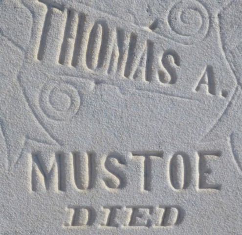 Doug Clouse, Gravestone detail, Waterloo, Kansas