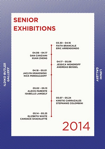 2014 Senior Exhibition Schedule