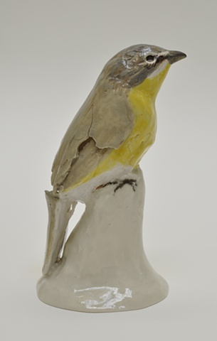 "Mary Carlson, ""Chat"", 2008, 6 x 3 x 3 inches, porcelain"