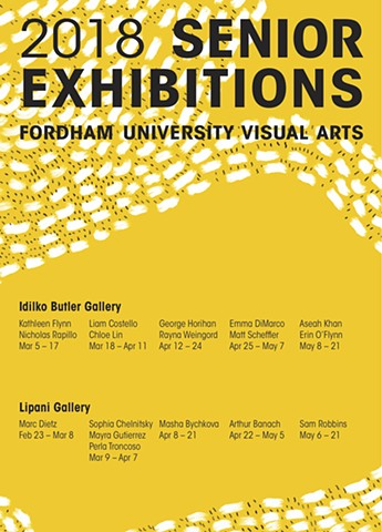 2018 Senior Thesis Exhibition Schedule