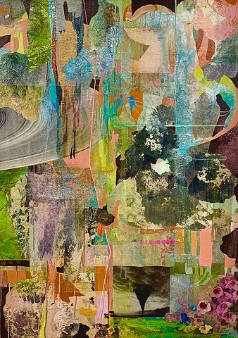 Carleen Sheehan, Cove Series (twister) 2019, acrylic, gouache, mixed media on canvas, 48 x 34 in.