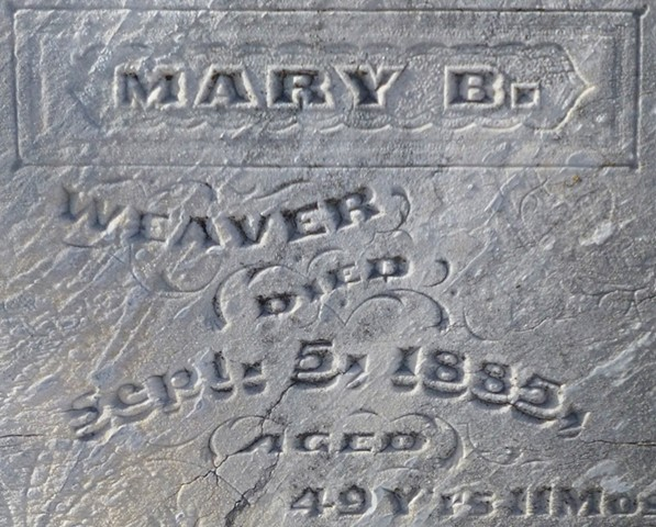 Doug Clouse, Gravestone detail, Kansas