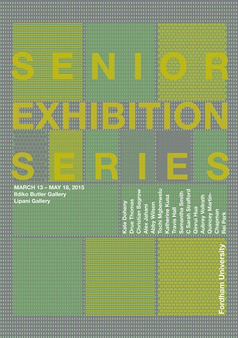 2015 Senior Exhibition Schedule