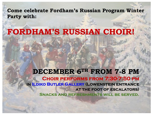 Russian Choir Winter Party