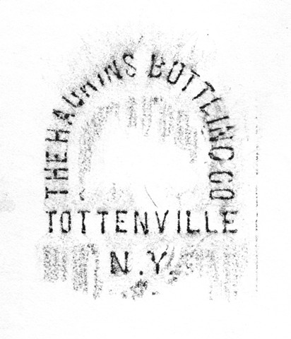 Doug Clouse, A rubbing of part of a bottle found on the shore of Tottenville, Staten Island.