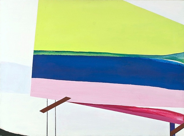 LAURA NEWMAN VIEWING PLATFORM 2011 ACRYLIC ON CANVAS 22 X 30 INCHES