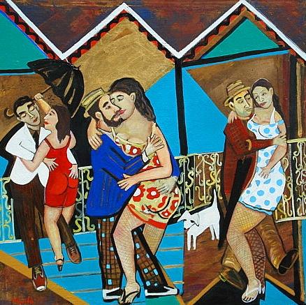 Namoro em Rigoroso inverno na cidade de Lencois . ( Courtship in the city of Lencois)