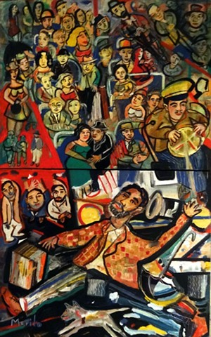 MURILO,  BAHIA, PAINTINGS. modern brazilian contemporary art.