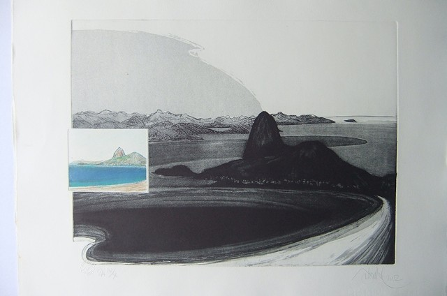 BAHIA, engraving modern brazilian contemporary art.