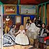 Variacao Das Meninas De Velasques ou o pintor e o maior dos exibicionista   ( This painter as Velasques at the Spanish court)