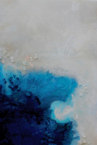 Ocean Force is a resin painting created by Dallas' custom artist Suzie Collins