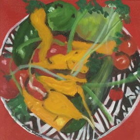 red, green, vegetable still life, cucumbers, for kitchen,