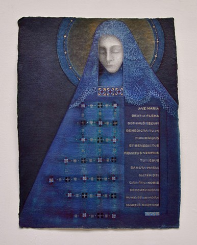 Marian Devotional paintings Holy Mary image of the Madonna Catholic Art Christian Art, Blue Madonna, Black Madonna