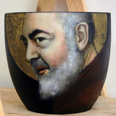 Italian Catholic Saint Padre Pio, St. Pio of Pietrelcina, Catholic Art, I Paint Saints