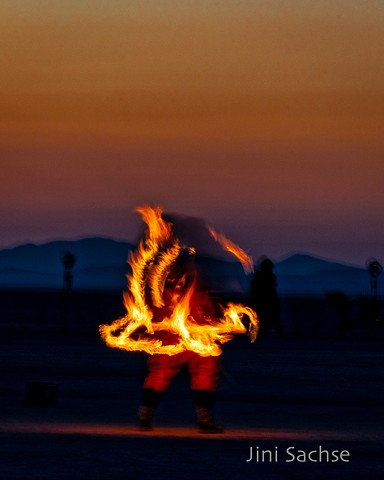 fire dancer, burning man, fire, black rock desert