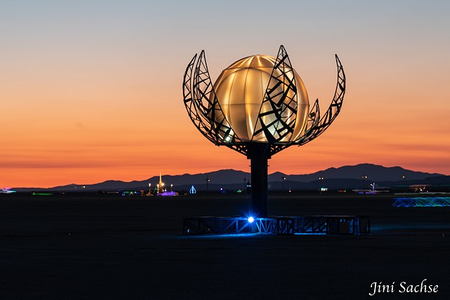 luna flora, art, burning man art, burning man, sculpture