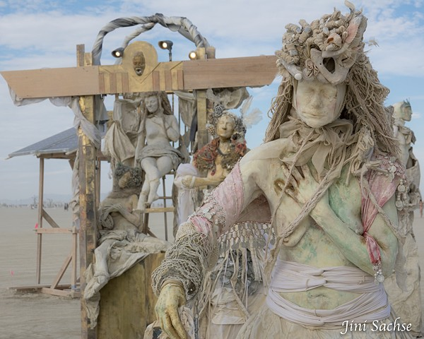 Burning Man 2016, The Muses of DaVinci, Burning Man Art, elizabeth mallory and mikell haynes