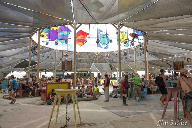Burning Man 2016, Center Camp, Burning Man