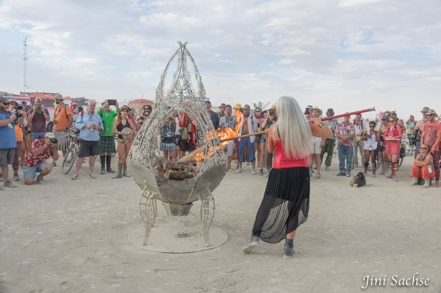 Burning Man, Burning Man 2016, Crimson Rose, Cauldron, Fire Goddess