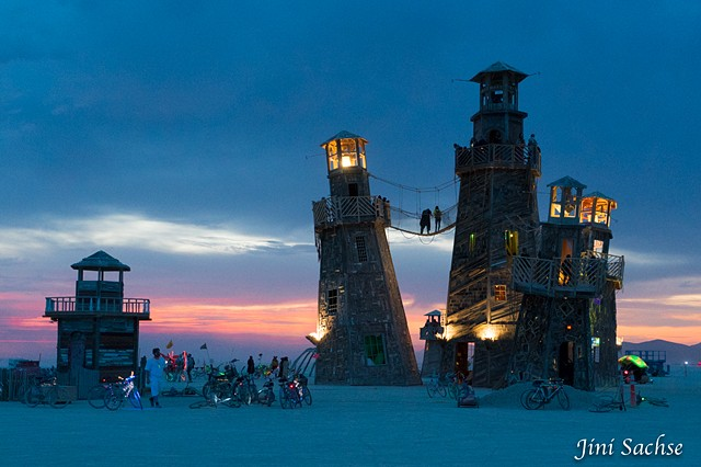 The Black Rock Lighthouse Service, Burning Man, Burning Man 2016, Lighthouse, Sunrise, Burning Man Art