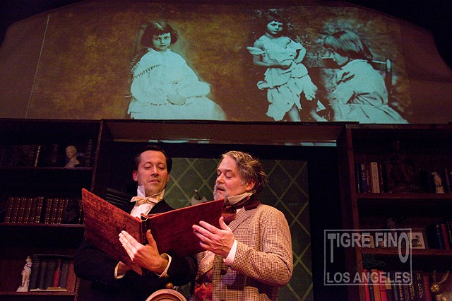 play about fictional meeting between Charles Dickens and Lewis Carroll. Photographs by Tiger Munson